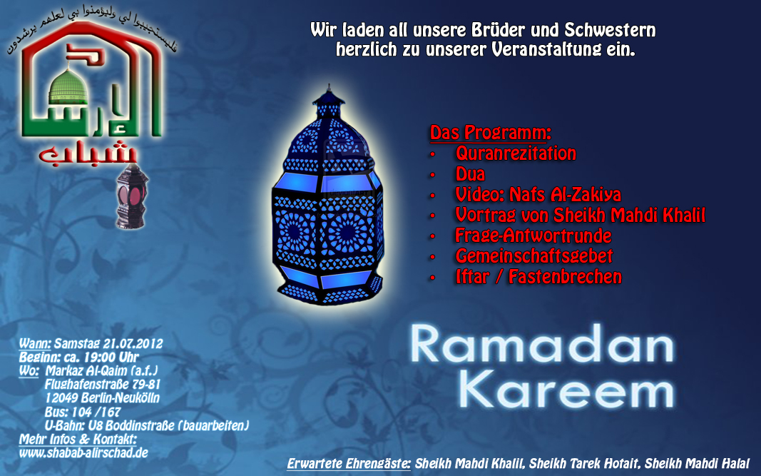 1. Ramadanprogramm