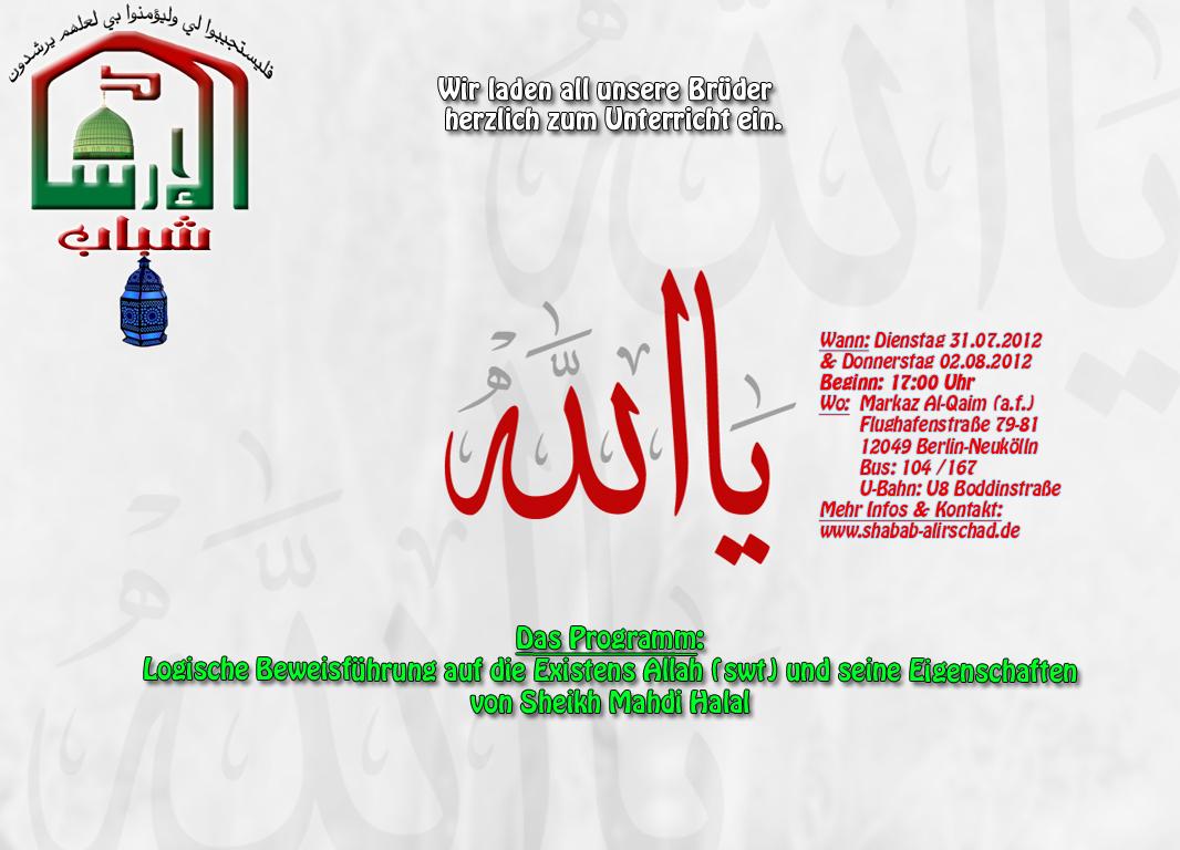 Di+Do Unterricht mit Sheikh Mahdi