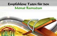 Mustahab Taten zu Shahr Ramadan