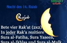 Taten am/zum 14. Rajab