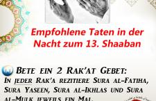 Nacht zum 13. Shaaban