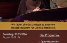 Trauerprogramm mit Sayed Berjawi