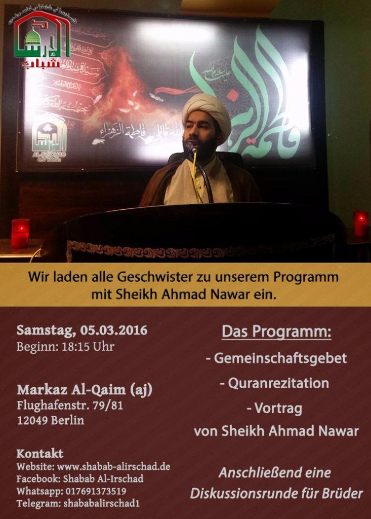 Programm mit Sheikh Ahmad Nawar