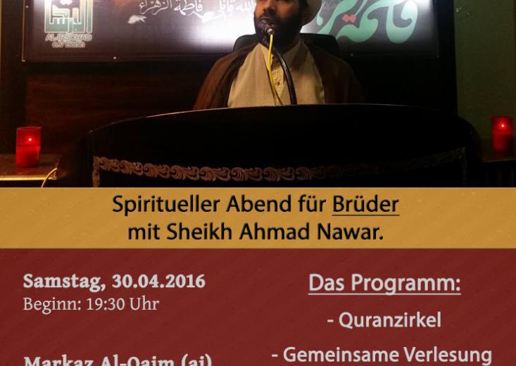 Spiritueller Abend für Brüder mit Sheikh Nawar