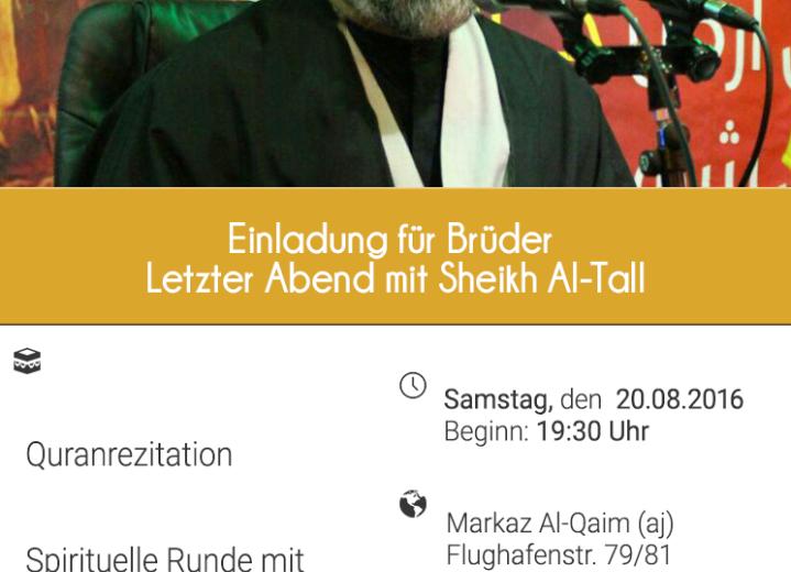 Letzter Abend mit Sheikh Al-Tall