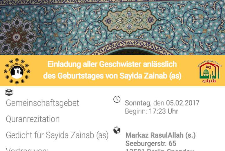 Veranstaltung: Geburtstag Sayida Zainab in Spandau