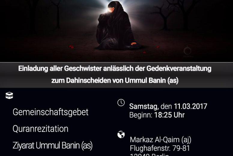 Dahinscheiden Ummul Banin 11.03.17
