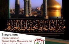 Martyrium Sayyida Maasouma (as) Veranstaltung