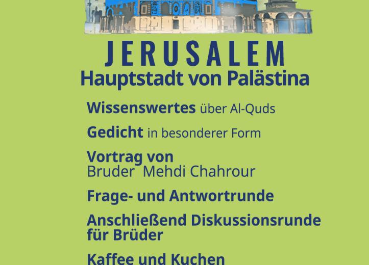 Jerusalem – Hauptstadt Palästinas