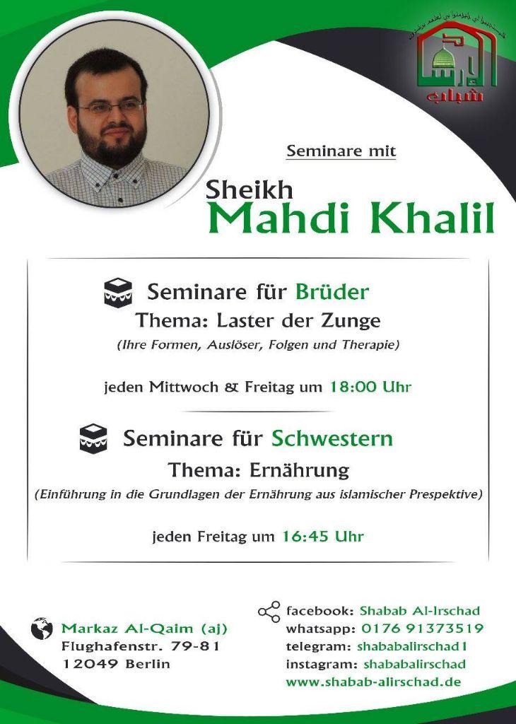 Seminare mit Sheikh Mahdi Khalil